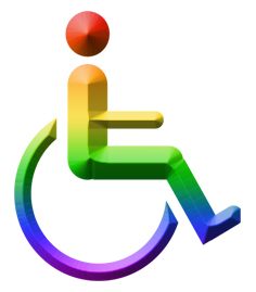 Rainbow whelchair